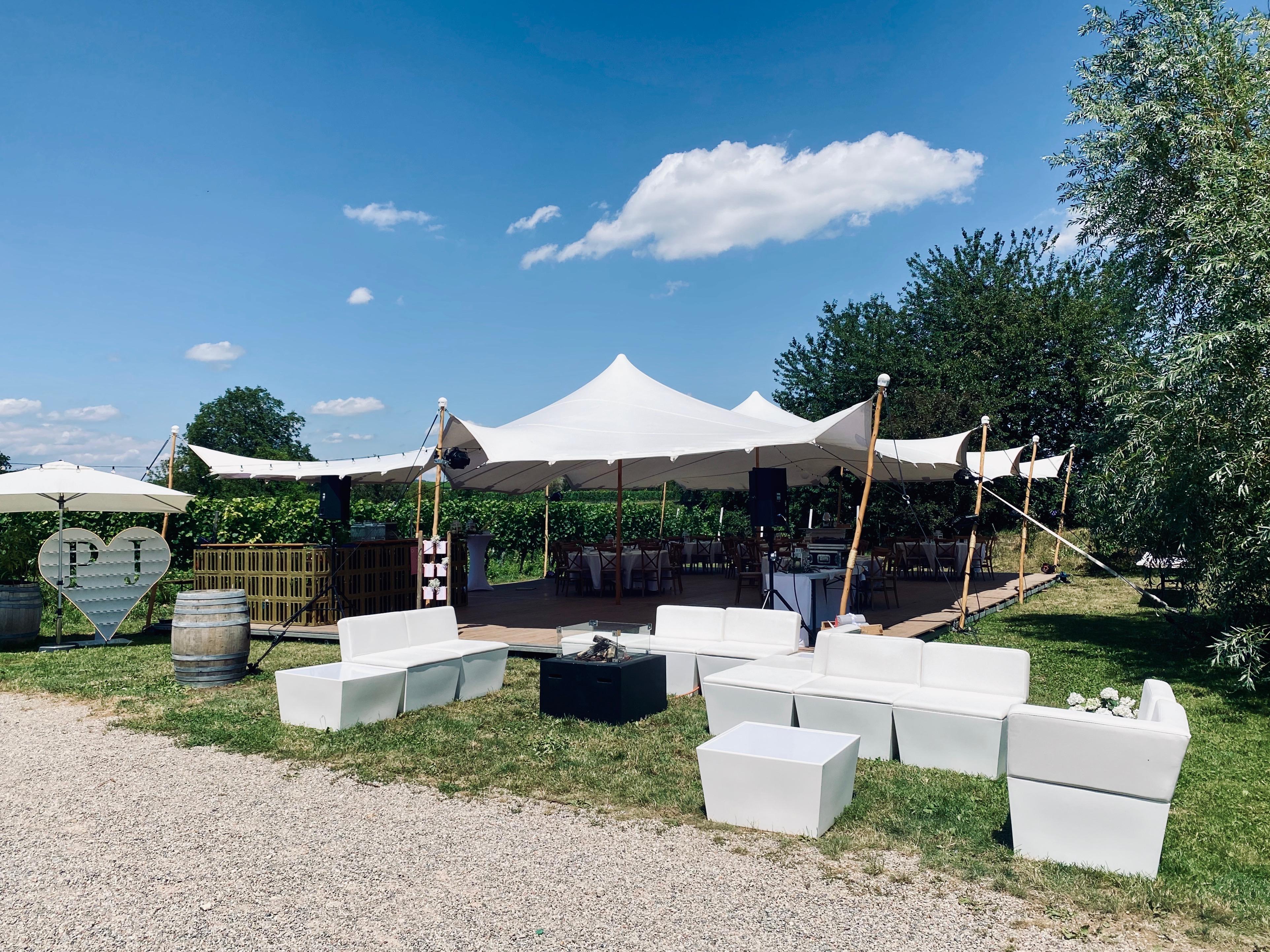 Hochzeit im Zelt, Flexzelt, Beduinenzelt