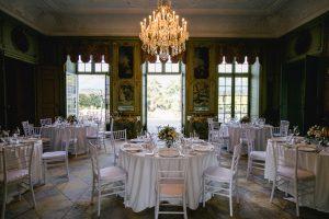 Runde Tische Hochzeit Villa Wenkenhof